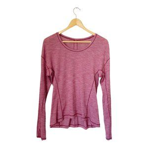 lululemon Heathered Red Long Sleeve Workout Top 10